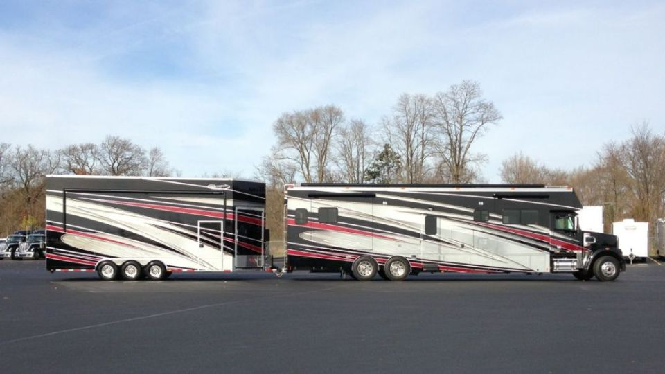 Renegade Motorcoach Stacker Trailer Welcome