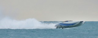 Powerboat Catches Air